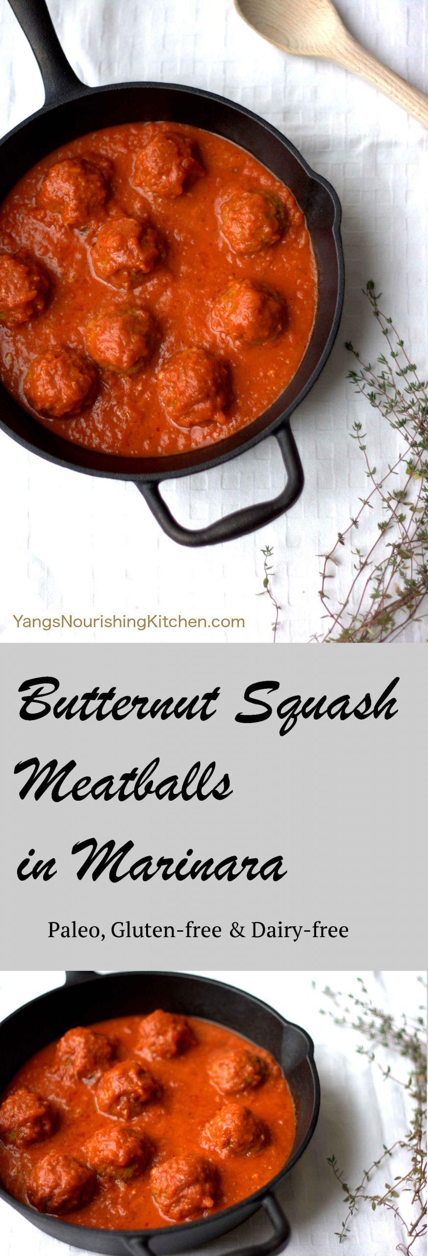 Butternut Squash Meatballs (Paleo, Whole 30)