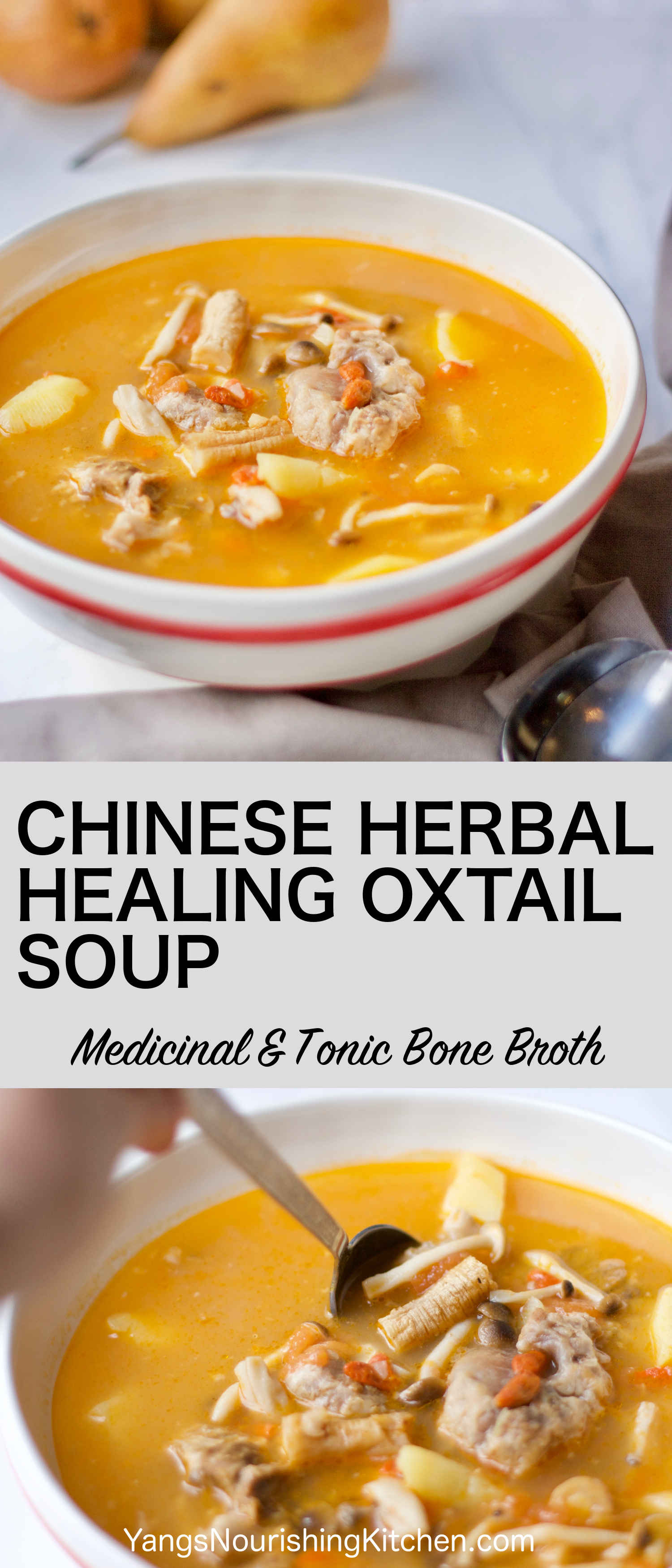Chinese Herbal Healing Oxtail Soup