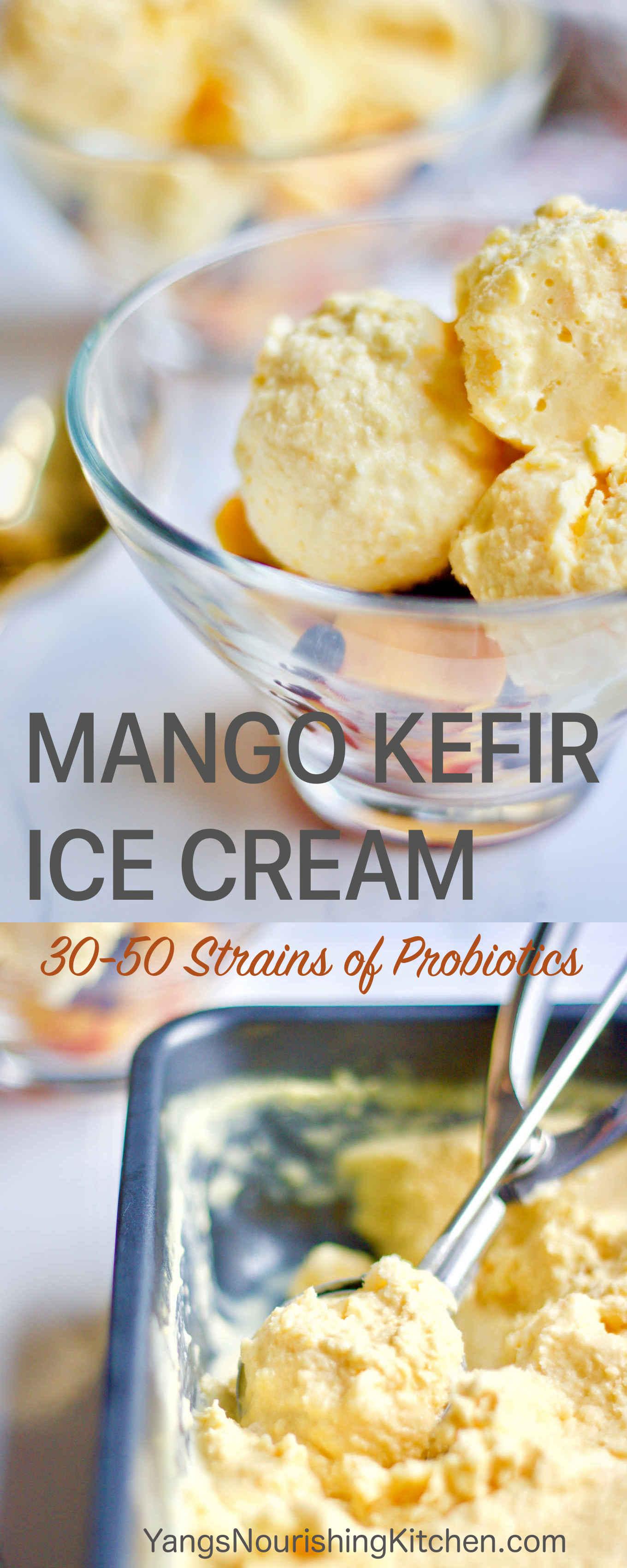 Mango Kefir Ice Cream w/o Ice Cream Maker