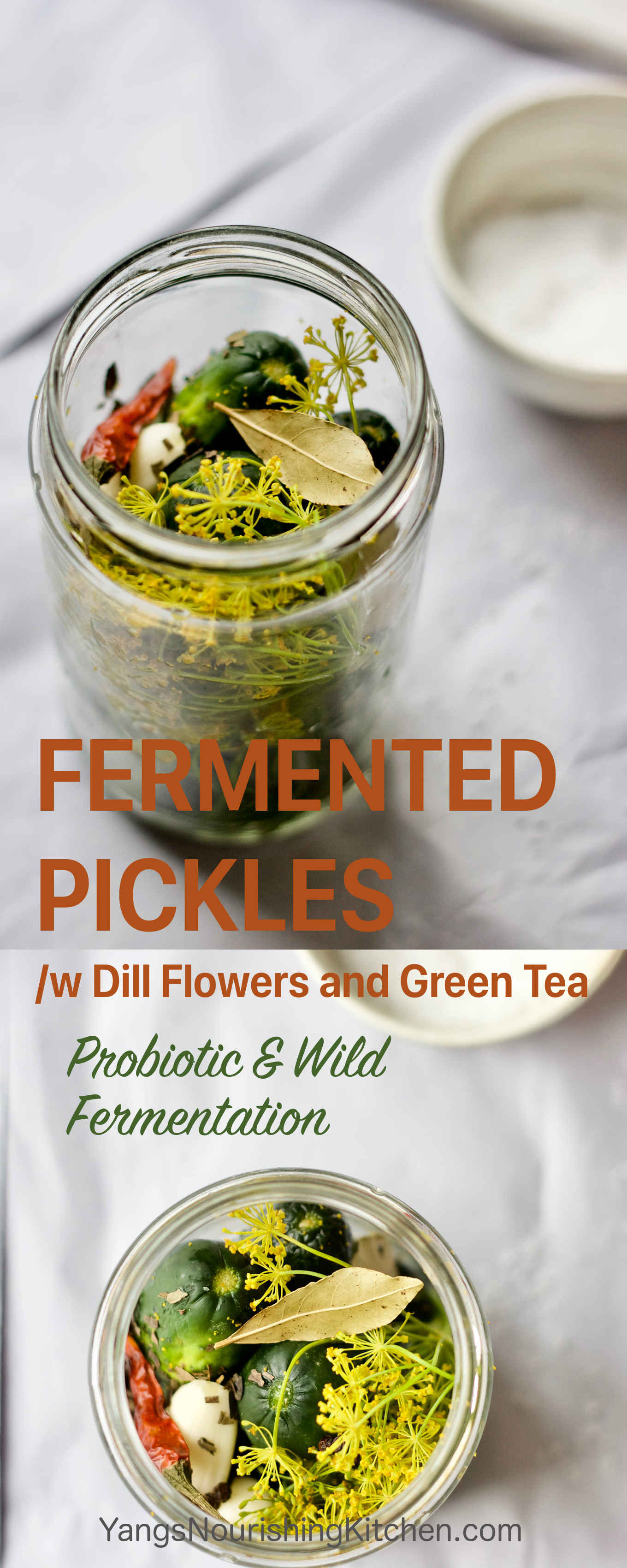 Fermented Pickles /w Green Tea and Dill Flowers