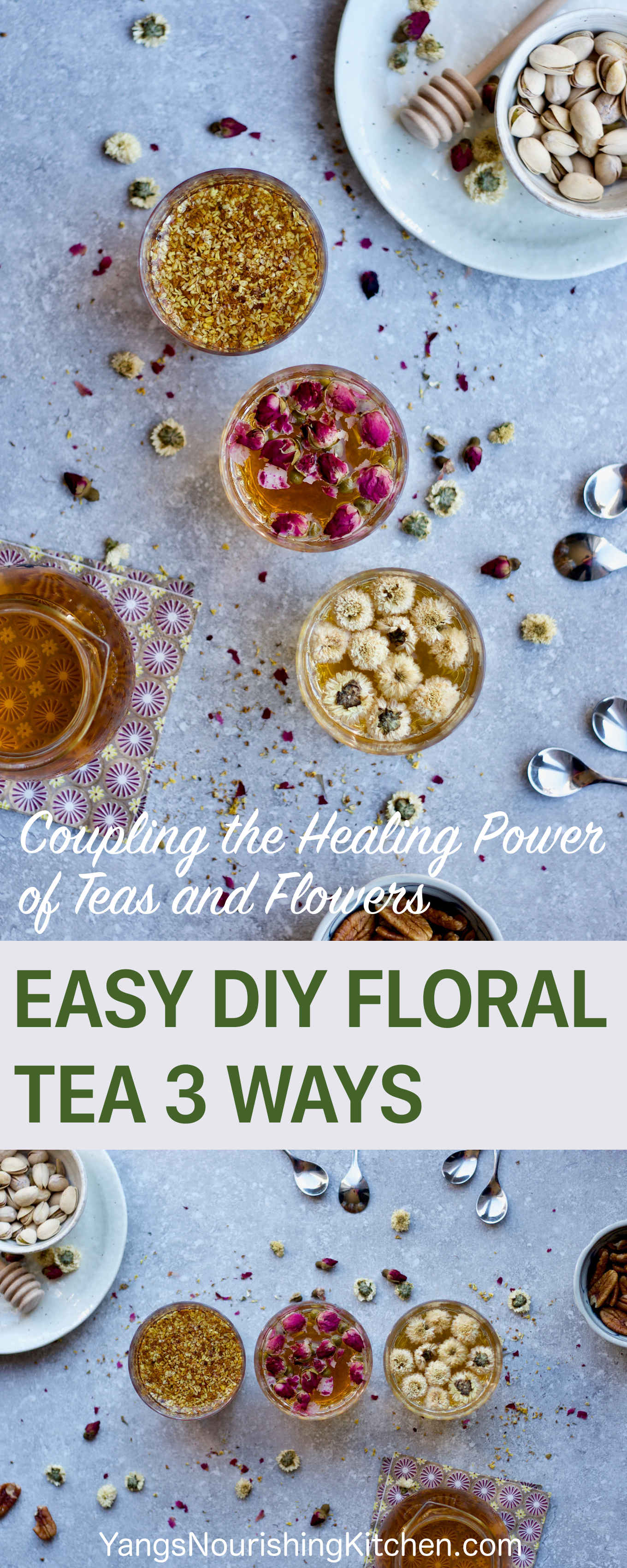 Easy DIY Floral Tea 3 Ways: Coupling the Healing Power of Teas and Flowers