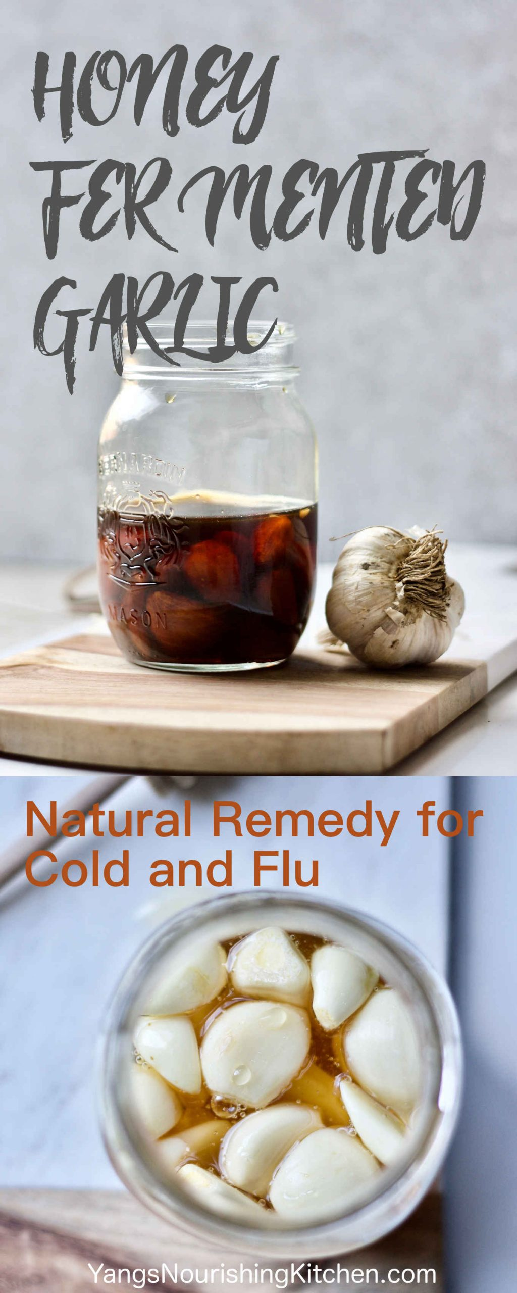 Honey Fermented Garlic: A Natural Remedy for Cold and Flu