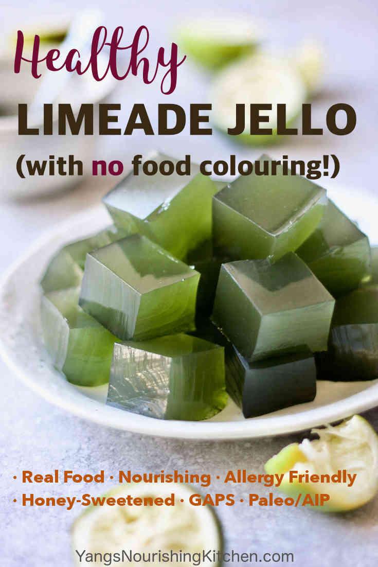 Healthy Limeade Jello (GAPS, Paleo)