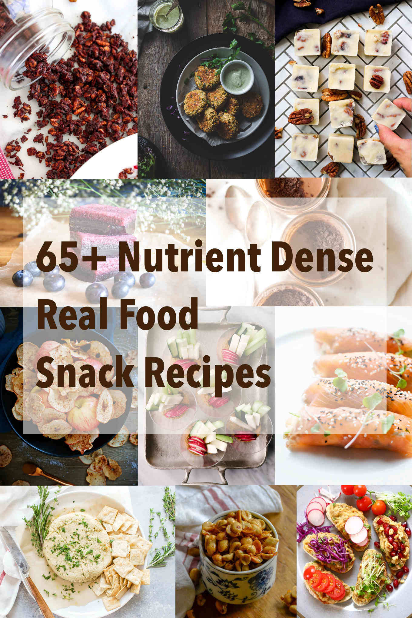 65+ Nutrient Dense Real Food Snack Recipes