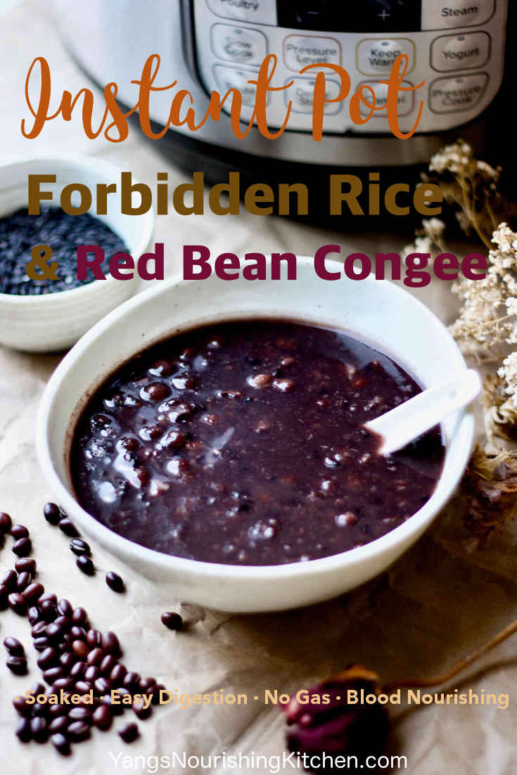 Instant Pot Forbidden Rice & Red Bean Congee