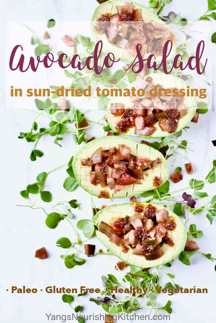Avocado Salad in Sun-Dried Tomato Dressing