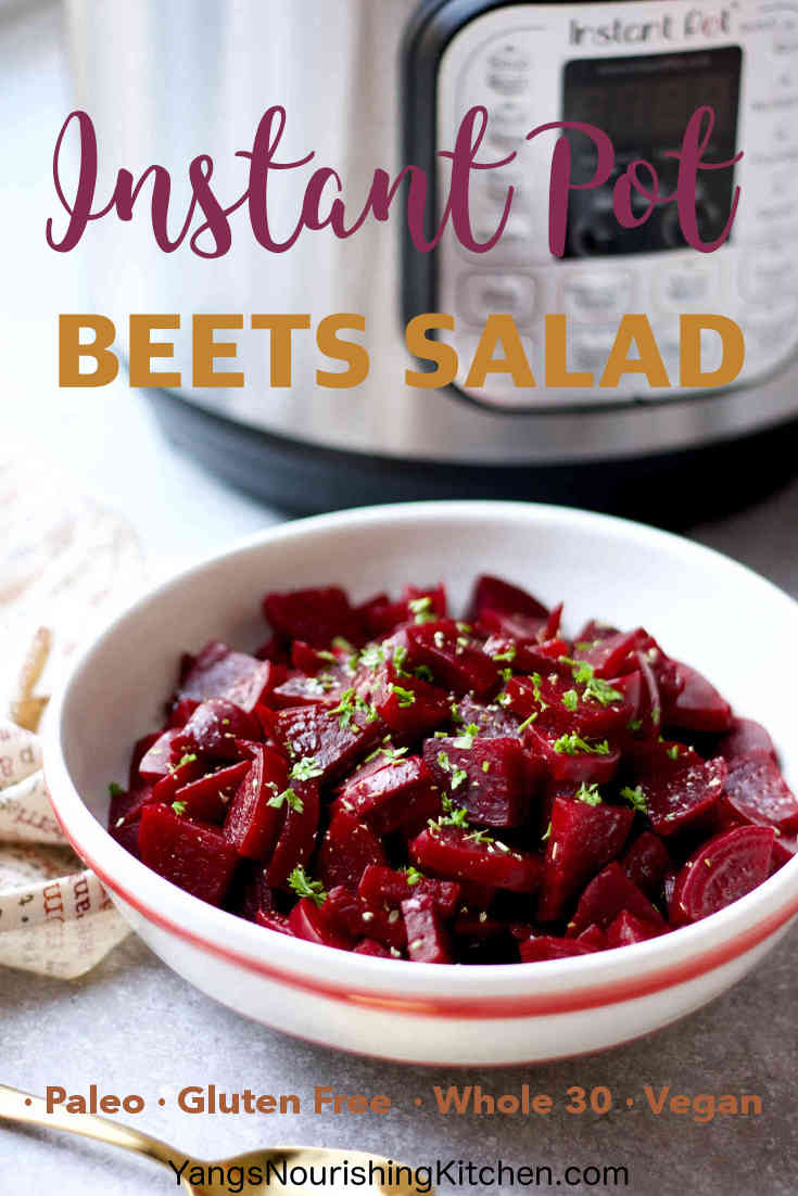 Instant Pot Beets Salad (Paleo, Whole 30, Vegan)