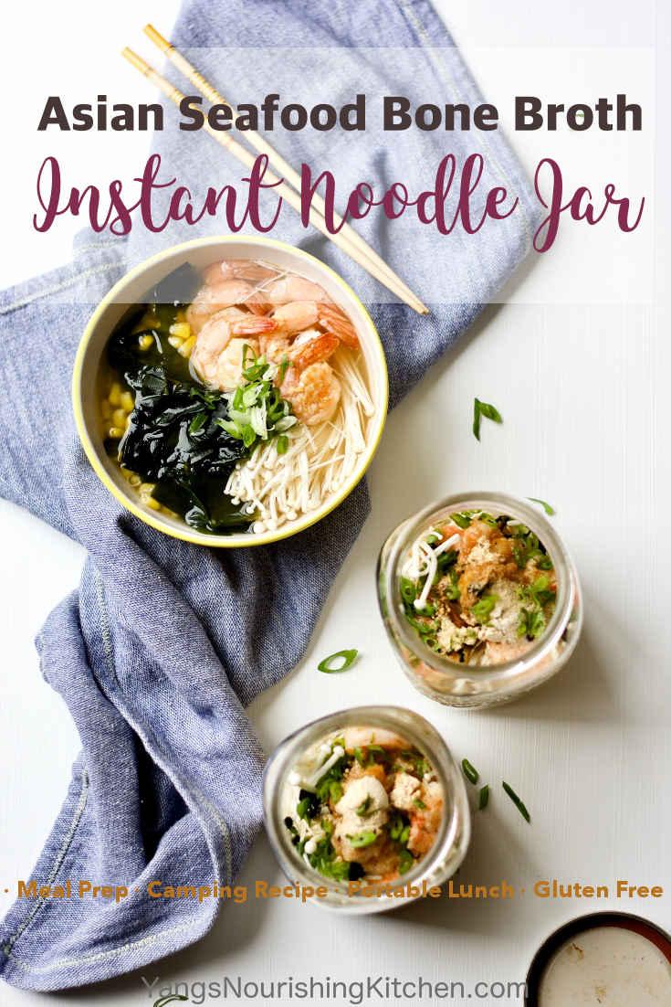 Asian Seafood Bone Broth Instant Noodle Jar