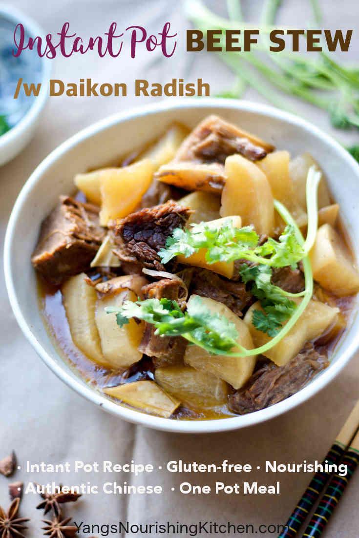 Instant Pot Beef Brisket Stew with Daikon Radish