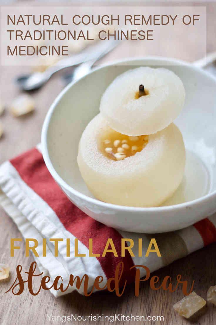 Sichuan Fritillaria Steamed Pear (川贝雪梨): TCM Natural Cough Remedy