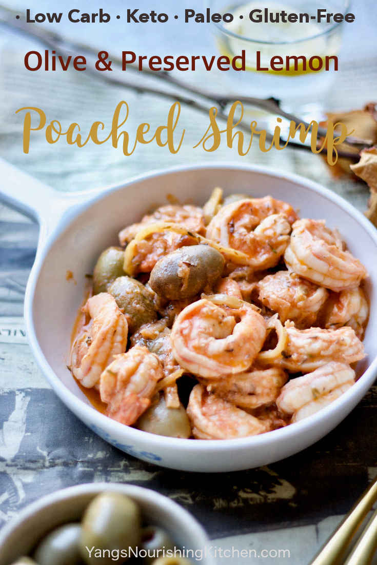 Olive and Preserved Lemon Poached Shrimp