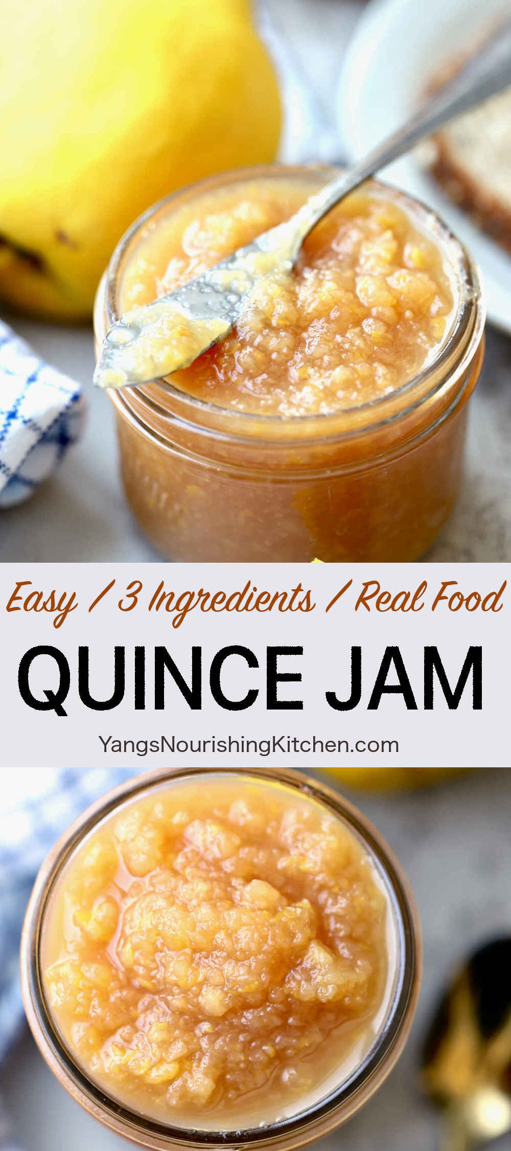 Quince Jam (Easy, 3 Ingredients)
