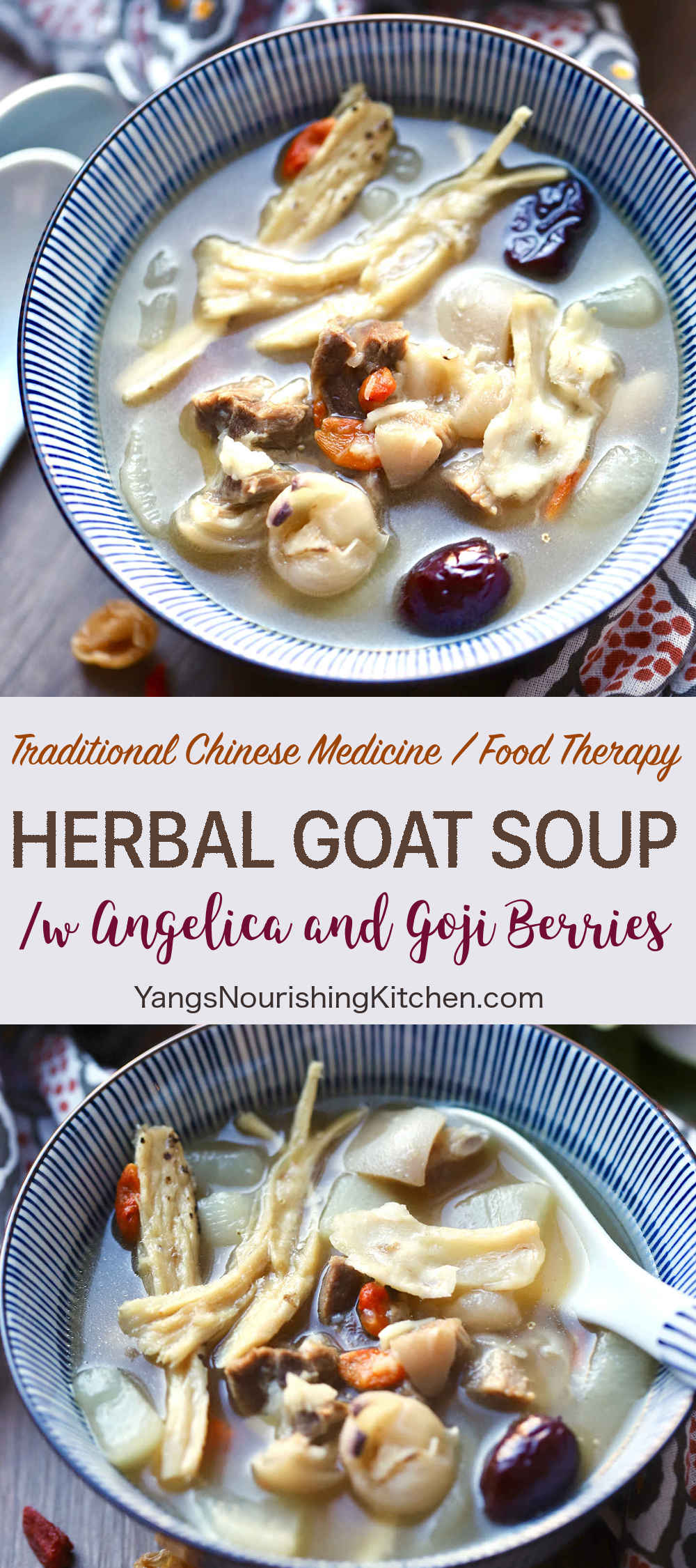 Herbal Goat Soup /w Angelica and Goji Berries