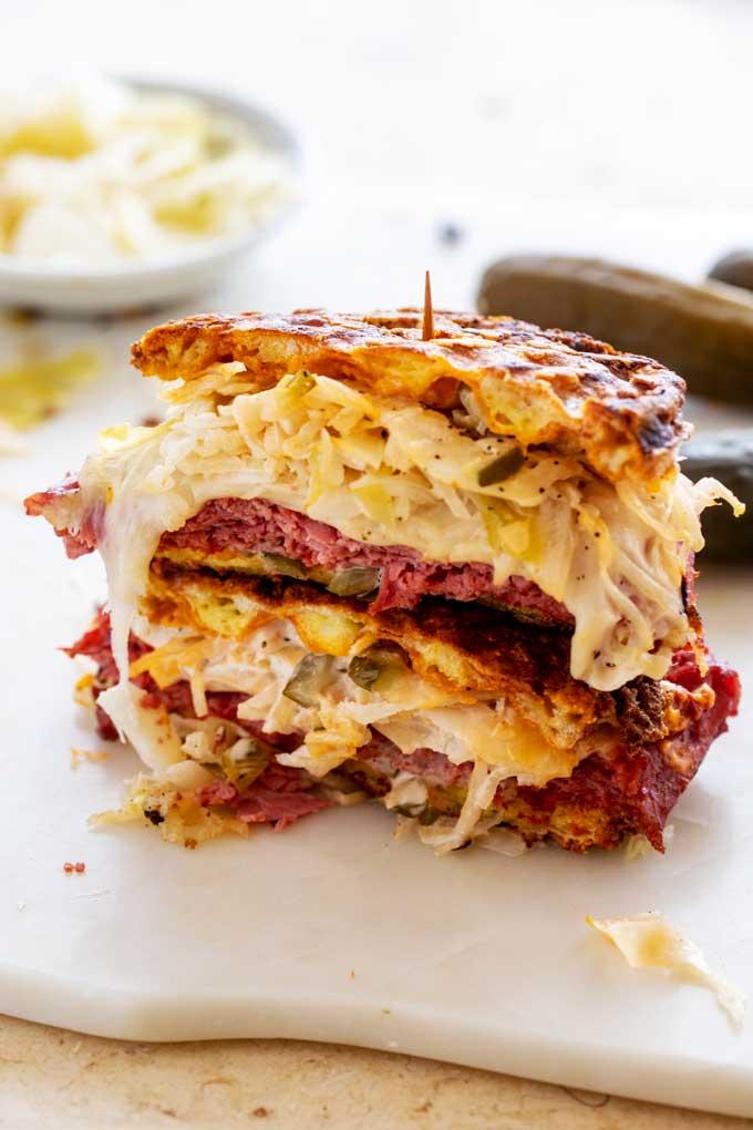 Quick and Easy Keto Reuben Sandwich