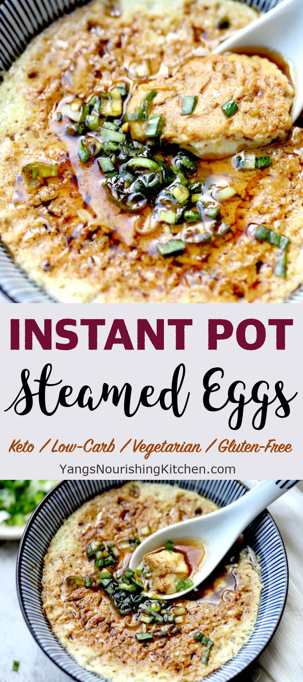 Chinese Steamed Egg Custard in Instant Pot