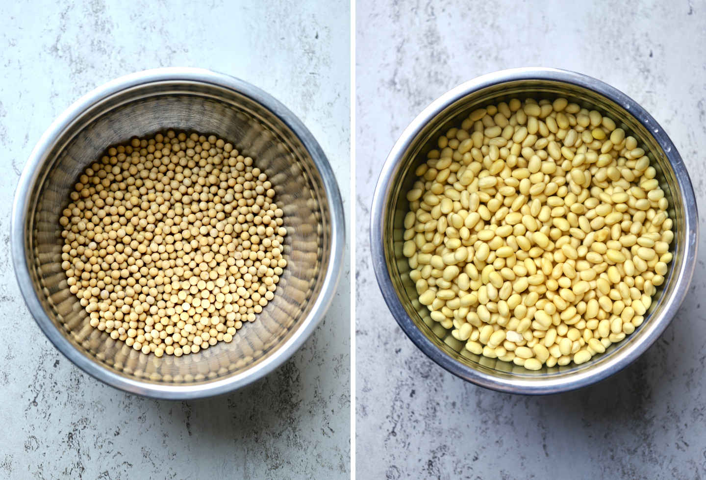 dry vs. sprouted soybeans