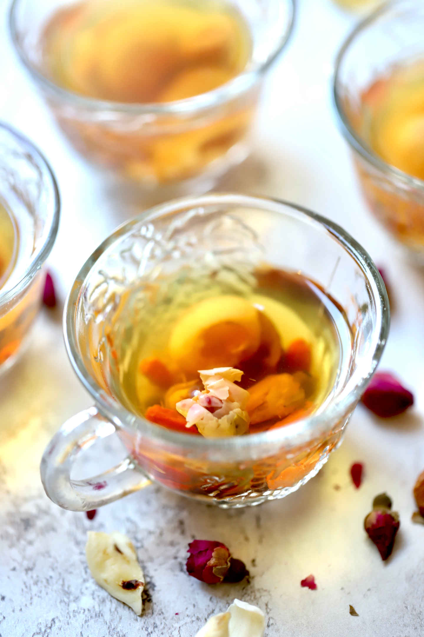 herbal tea containing rosebuds supports women's health, reproductive system and beautiful skin