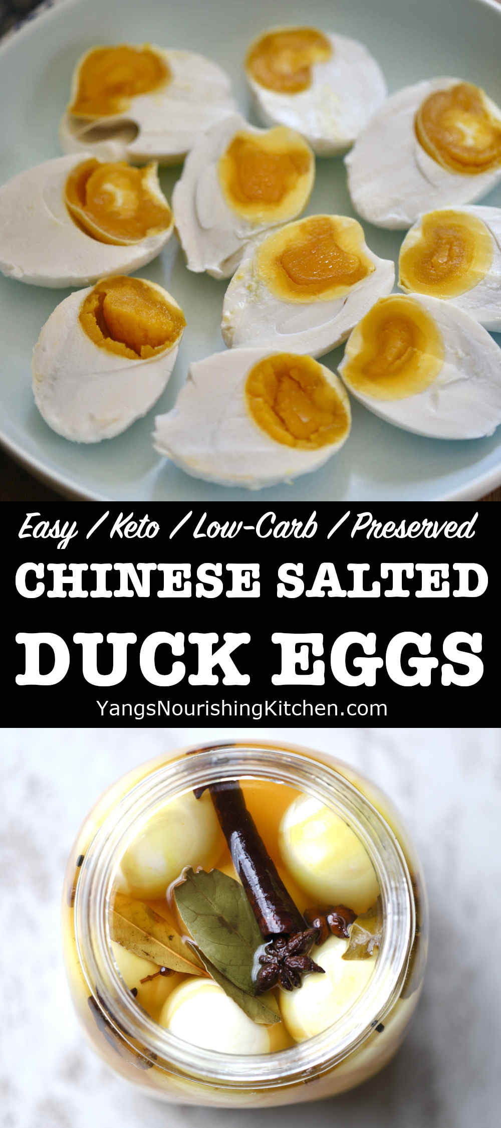 Chinese Salted Duck Eggs (Easy, Keto)